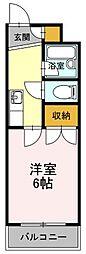 広島県福山市御船町2丁目の賃貸マンションの間取り