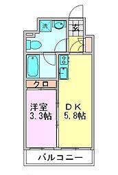 ルネッサンス21博多[513号室]の間取り