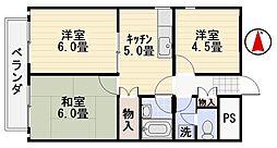 エスコートパレス桜山[103号室]の間取り