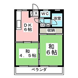 コーポ幕田[4階]の間取り