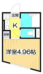Aifort.東武練馬 1階1Kの間取り