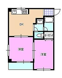 グレイスマンション301[3階]の間取り