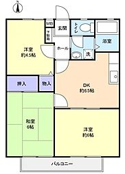 リバ−シャトレ−[1階]の間取り