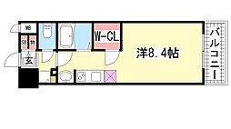 アスヴェル神戸元町海岸通[403号室]の間取り