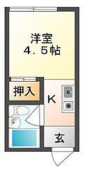 潤井戸マンション[2階]の間取り