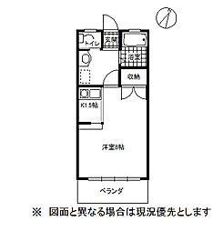 コーポ花水木[2階]の間取り