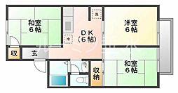 アパートメント蘭[2階]の間取り