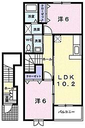 プリムローズIII[203号室]の間取り