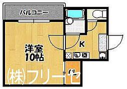 福岡県福岡市博多区吉塚本町の賃貸マンションの間取り