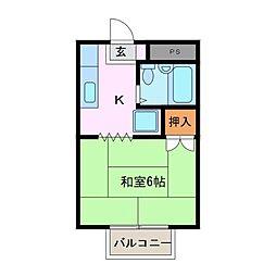 コーポ谷口[2階]の間取り