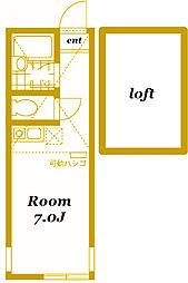 ユナイト横浜グラスゴーの丘[203号室]の間取り