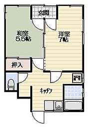 上田ハイツ[1F号室]の間取り