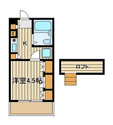 シャンブルケー[2階]の間取り