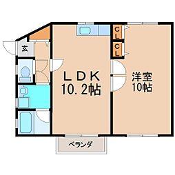神奈川県鎌倉市大町1丁目の賃貸アパートの間取り