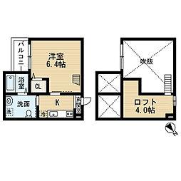 愛知県名古屋市南区鶴里町3丁目の賃貸アパートの間取り