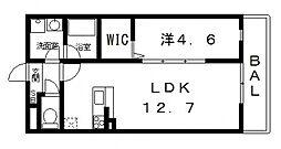 ドミソレイユII[305号室号室]の間取り