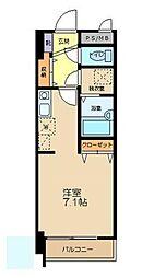 東京都八王子市兵衛1丁目の賃貸マンションの間取り