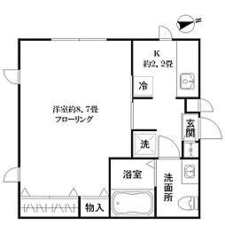 東京都新宿区二十騎町の賃貸アパートの間取り