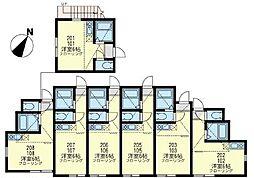 ユナイト 神大寺レフォルマの杜[2階]の間取り