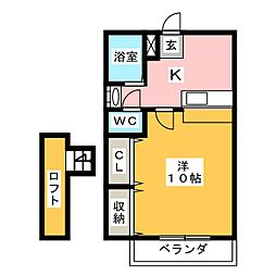 トーヨーコート[1階]の間取り