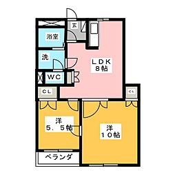 ピアハイム[2階]の間取り