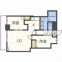 北海道札幌市北区北二十六条西9丁目の賃貸マンションの間取り