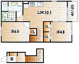 ラビアンローズ I[2階]の間取り