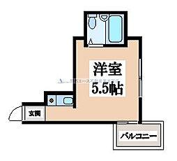 ロータリーマンション永和[5階]の間取り