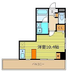 サンマリー鶴瀬[4階]の間取り