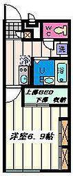 埼玉県草加市吉町3丁目の賃貸アパートの間取り