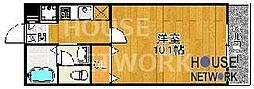 下京セジュールKaMiNs(小原ハイツ)[106号室号室]の間取り