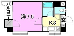 第3パールハイツ[208 号室号室]の間取り