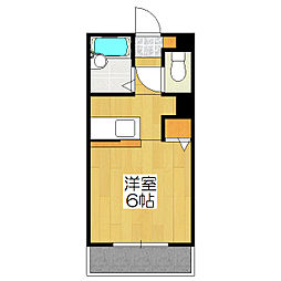 京都府京都市伏見区向島庚申町の賃貸マンションの間取り