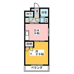 静岡県静岡市清水区楠新田の賃貸マンションの間取り