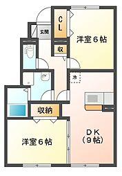 COMODO楠 II[1階]の間取り