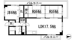 リゾうねの1[2階]の間取り