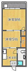 千里富士ビル[3階]の間取り