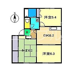 ラ・ベルターナI[1階]の間取り