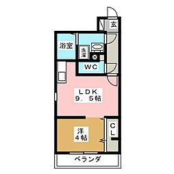 Branche箱崎宮前[5階]の間取り
