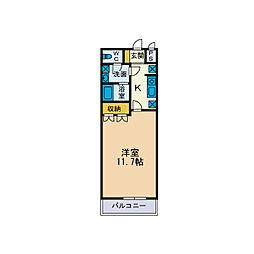 サンコートI[1階]の間取り
