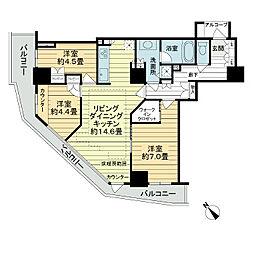 セントラルレジデンス新宿シティタワー[8階]の間取り