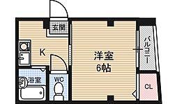 エーキューライフ海老江[2階]の間取り