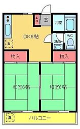 コーポ倉本[1階]の間取り
