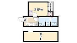 愛知県名古屋市瑞穂区仁所町1丁目の賃貸アパートの間取り
