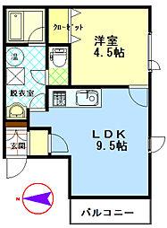 ファンタジアIII[306号室]の間取り
