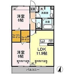 Recente和田町A[3階]の間取り