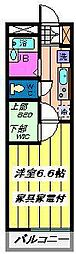 埼玉県さいたま市北区宮原町2丁目の賃貸マンションの間取り