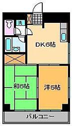 ラ・ブランシュ[4階]の間取り