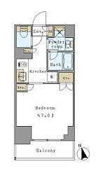 つくばエクスプレス 新御徒町駅 徒歩3分の賃貸マンション 3階1Kの間取り