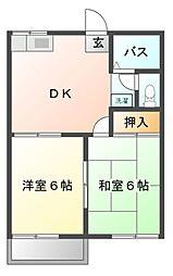 ファミーユ津田沼[2階]の間取り